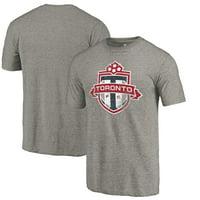 Toronto FC Fanatics Branded Distressed Primary Logo Tri-Blend T-Shirt - Gray