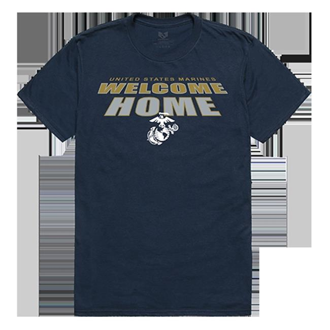 RapidDominance S34-MAR-BGT-02 Marines Welcome Home Tee, Navy - Medium - image 1 de 1