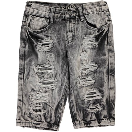 "Kroix Big Boys' ""Encircled Tears"" Denim Shorts (Sizes 8 - 20)"