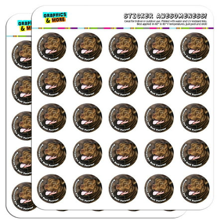 """American Pit Bull Terrier Red Nose Dog 1"""" Scrapbooking Crafting Stickers"""