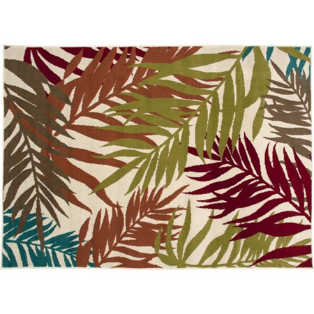Mainstays Indoor And Outdoor Rug Palm Leaf 4 11 Quot X 7