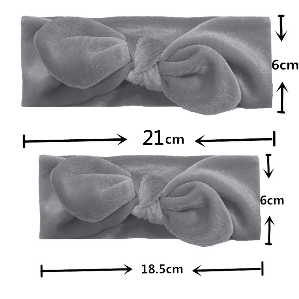 Four Mother/'S daughter/'s Baby Headband Hairband set In Salmon and grey