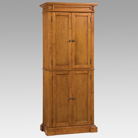 Americana Pantry Distressed Oak Finish (Oak Kitchen Pantry)