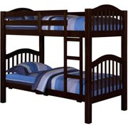 Acme Heartland Twin Over Twin Wood Bunk Bed with Trundle, Espresso