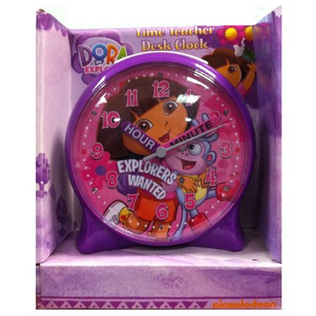 Dora The Explorer Time Teacher Desk Clock - Teacher Desk Decor