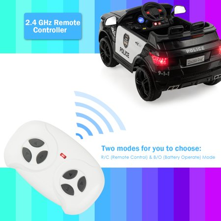 Costway Kids 12V Electric Ride On Car with Remote Control Bluetooth Black - image 2 of 8