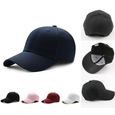 Pink Baseball Hat (Fashion Men Women Solid Snapback Baseball Ball Cap Outdoor Sports Hats Adjustable)