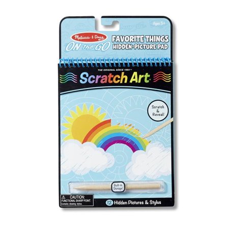 Melissa & Doug On the Go Scratch Art Hidden-Picture Pad - Favorite Things