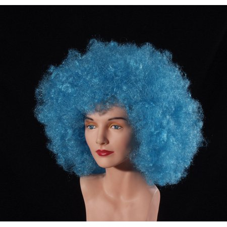 Loftus Giant Curly Afro Halloween Costume Wig, Blue, One Size](Costume Blue Wig)