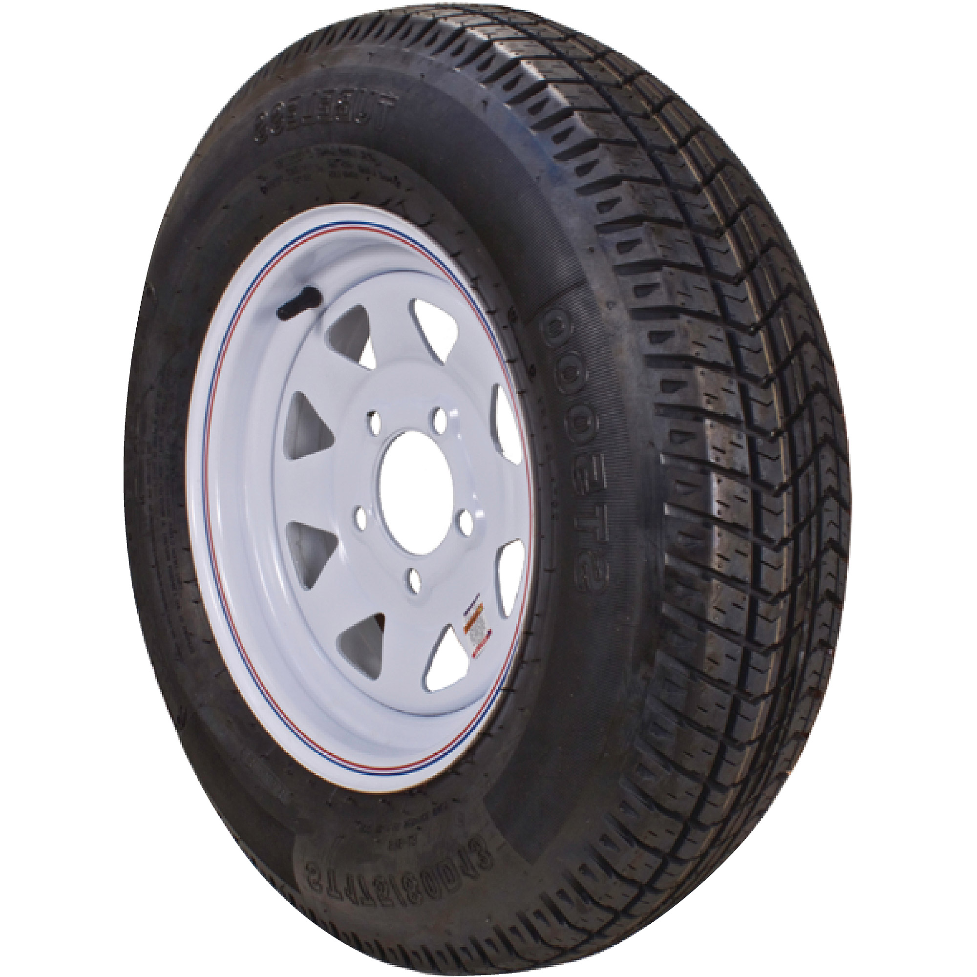Loadstar bias tire and wheel rim assembly 480 12 5 hole 4 ply