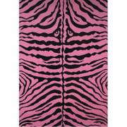 Fun Rugs Fun Time Pink Zebra Skin Area Rug