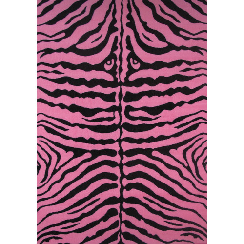 Fun Rugs Fun Time Zebra Skin-Pink Area Rug