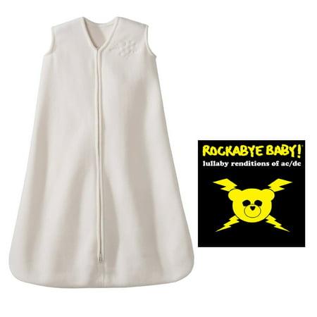 (Halo SleepSack Small Micro Fleece Wearable Blanket with Rockabye Baby Lullaby Renditions CD, Coldplay)