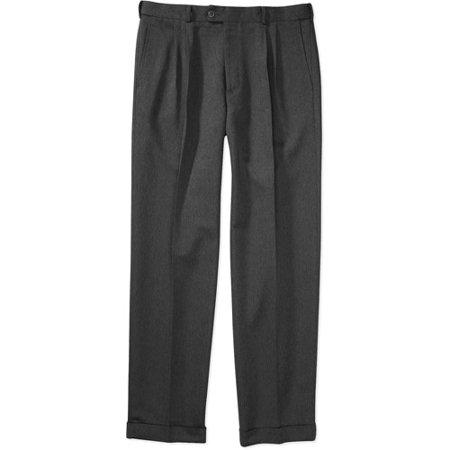George - Men's Microfiber Dress Pants - Walmart.com