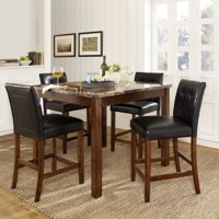 Dorel Living Andover 5-Piece Counter Height Dining Set, Multiple Colors
