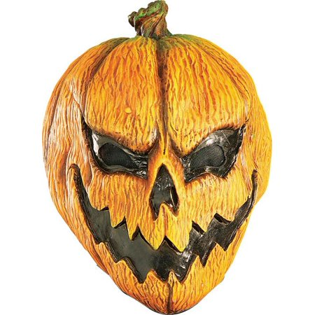 EVIL PUMPKIN MASK adult mens scary jack o lantern halloween costume accessory for $<!---->