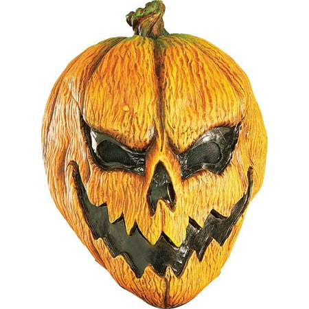 EVIL PUMPKIN MASK adult mens scary jack o lantern halloween costume accessory - Cool Halloween Makeup Not Scary