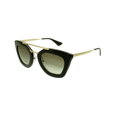 b0f8e7f697 Prada - Prada Women s Gradient PR09QS-1AB0A7-49 Black Cat Eye Sunglasses -  Walmart.com