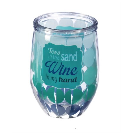 Wine in My Hand Double Wall Stemless Acrylic Wine Glass, 12 oz.](Acrylic Stemless Wine Glasses)