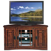 "Leick Home 46"" Corner TV Stand for TV's up to 50"", Mission Oak"