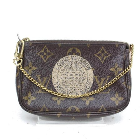 Pochette Accessoires Limited Monogram Trunks Mini Chain 869715 Brown Coated Canvas -
