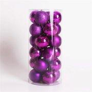 Multicolor Decorative Theme Pack of Exquisite Christmas Balls Ornaments for Tree Decoration Decor Ball (Purple), 24pcs Pack