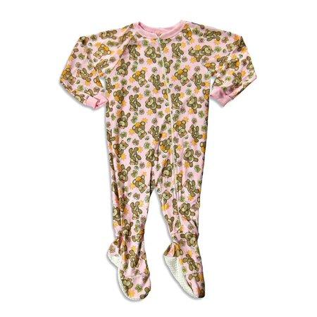 Carters Watch The Wear - Little Girls Footed Bears Blanket Sleeper, Pink 23792-4 pink bears / - Bear Adult Onesie