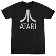 Atari Rough Logo Mens Adult Heather Ringer Shirt