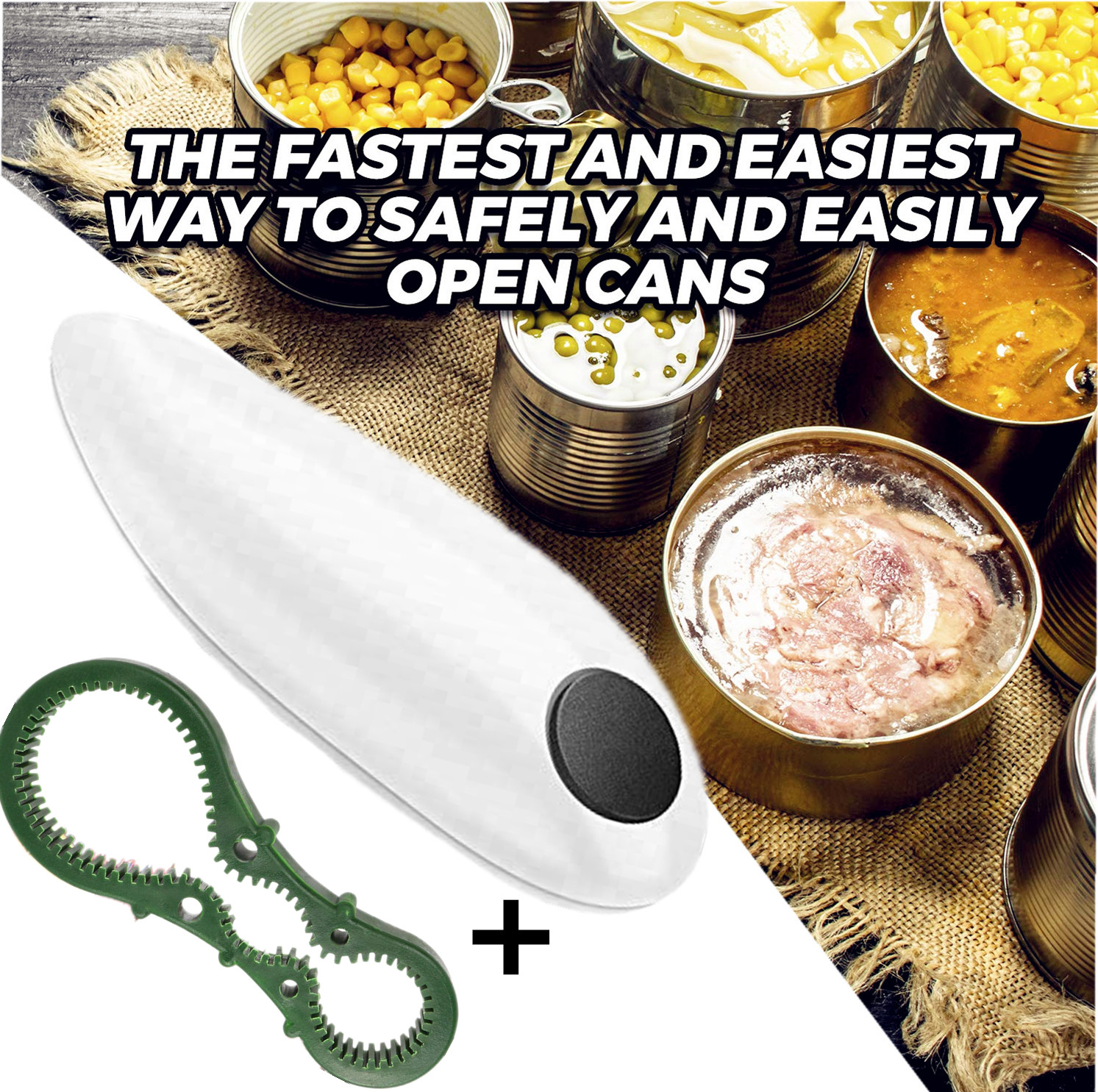 Electric Can Opener, One-Touch Hands Free Can Opener for Kitchen Restaurant and Arthritic Safety Automatic Can Opener 2019 Special Deal