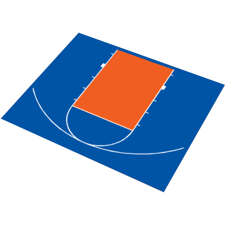 "DuraPlay 30'9"" x 25'8"" Half Court Basketball Kit"