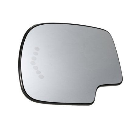 Glass Turn Signal Mirrors - Heated Mirror Glass Power Left Driver Side Turn Signal 88944391 Fit for Chevy Silverado GMC Sierra