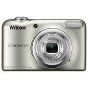 Nikon COOLPIX A10 16.1MP 5x Zoom NIKKOR Glass Lens Digital Camera - Silver Refurbished