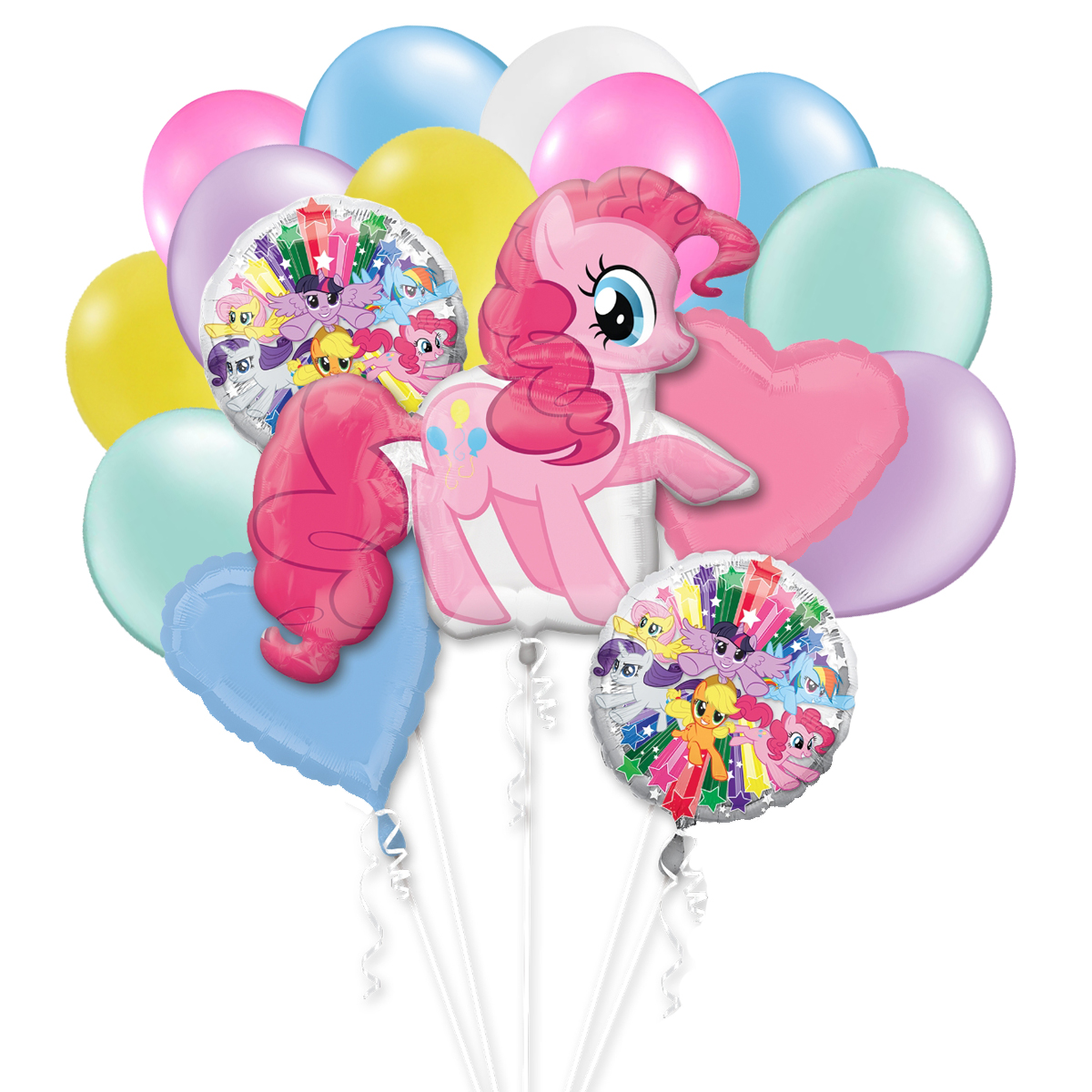 My Little Pony Birthday Party Theme Colored 16 piece Balloon Bouquet