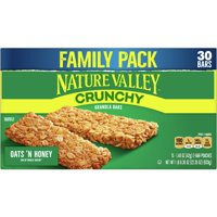 Nature Valley Crunchy Granola Bars, 30 Oats 'N' Honey Bars