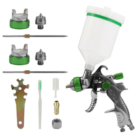 2008 Airbrush Kit HVLP Air Spray Machine Gravitational Force Feed Paint Sprayer Air Brush Set Stainless Steel 1.4mm 1.7mm 2.0mm Nozzle Auto Car Detail Painting for Spot Repairing Face