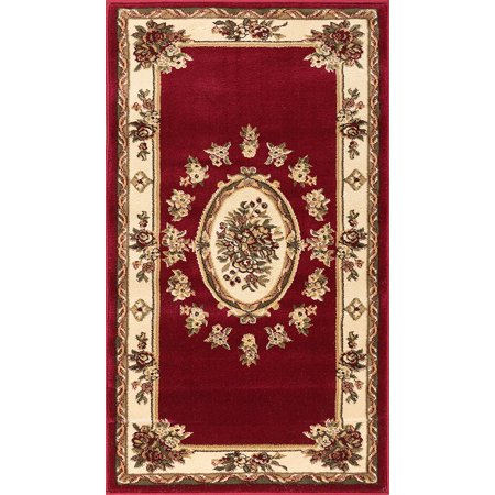 - Well Woven Pastoral Medallion Red French 2x4 (2'3