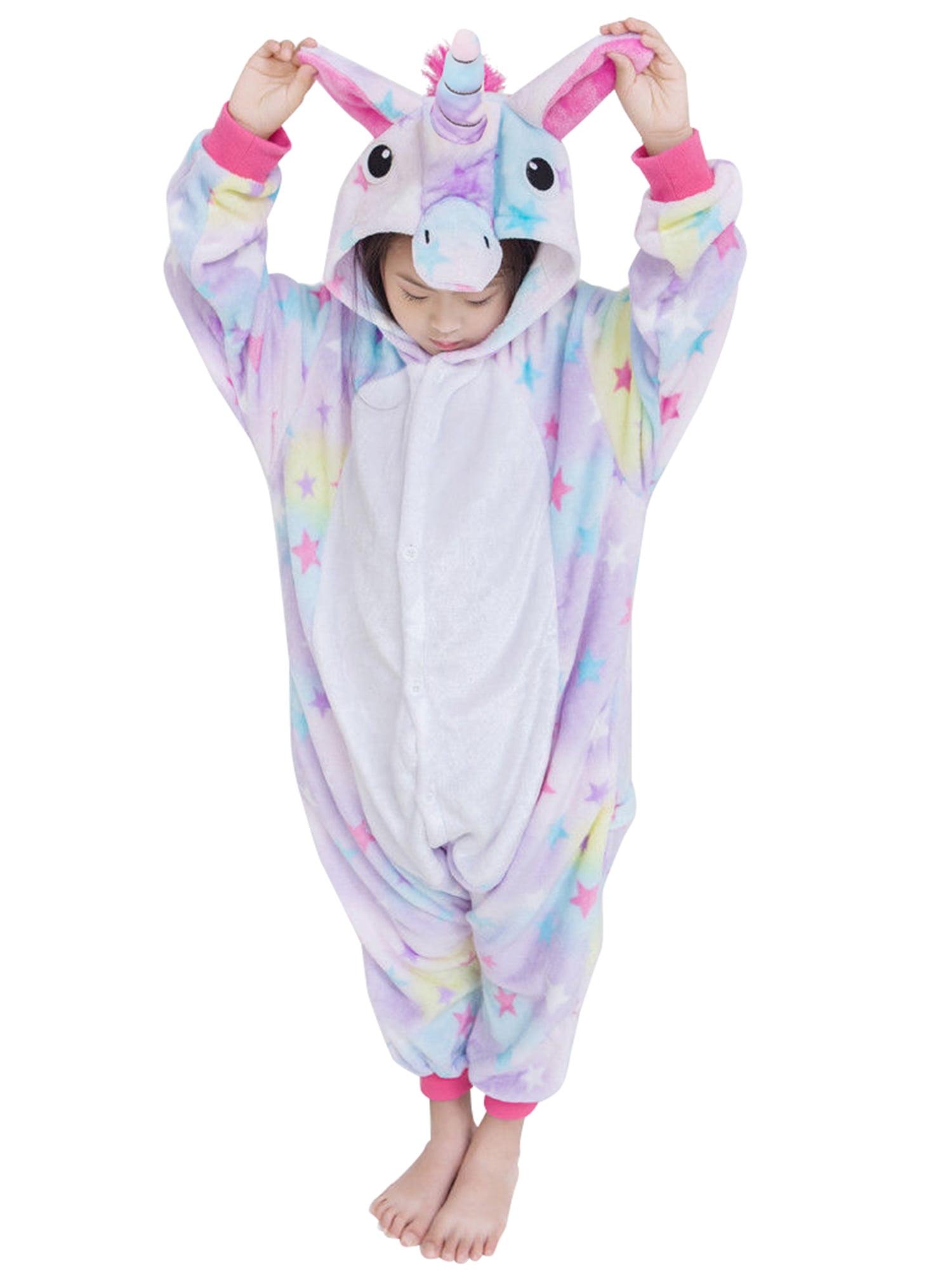 Unicorn Costumes Animal Onesies Sleeping Wear Pajamas Star S