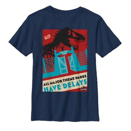 Jurassic Park Boys' Theme Parks Have Delays T-Shirt