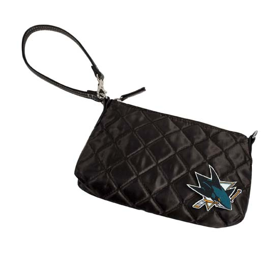 San Jose Sharks Quilted Wristlet