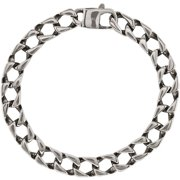 Primal Steel Stainless Steel Polished Square Link Bracelet, 8.5""