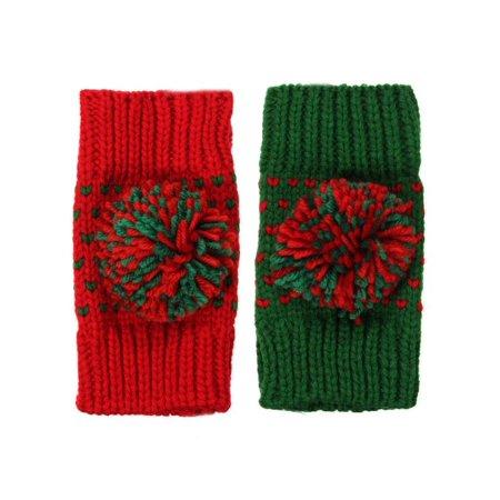 Mrosaa Womens Ladies Button Arm Warmer Fingerless Knit Vintage Mitten Winter Gloves - CLEARANCE