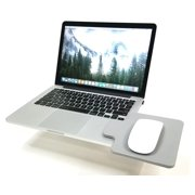 Creator's Mouse Ledge - Gray - Laptop Computer Extension Surface Platform Table For Your Mouse - Attaches Directly To Either Side Of Your Laptop Turning It Into A Portable Workstation