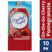 (20 Packets) Crystal Light Cherry Pomegranate Sugar Free, On-The-Go, Caffeine Free Powdered Drink Mix