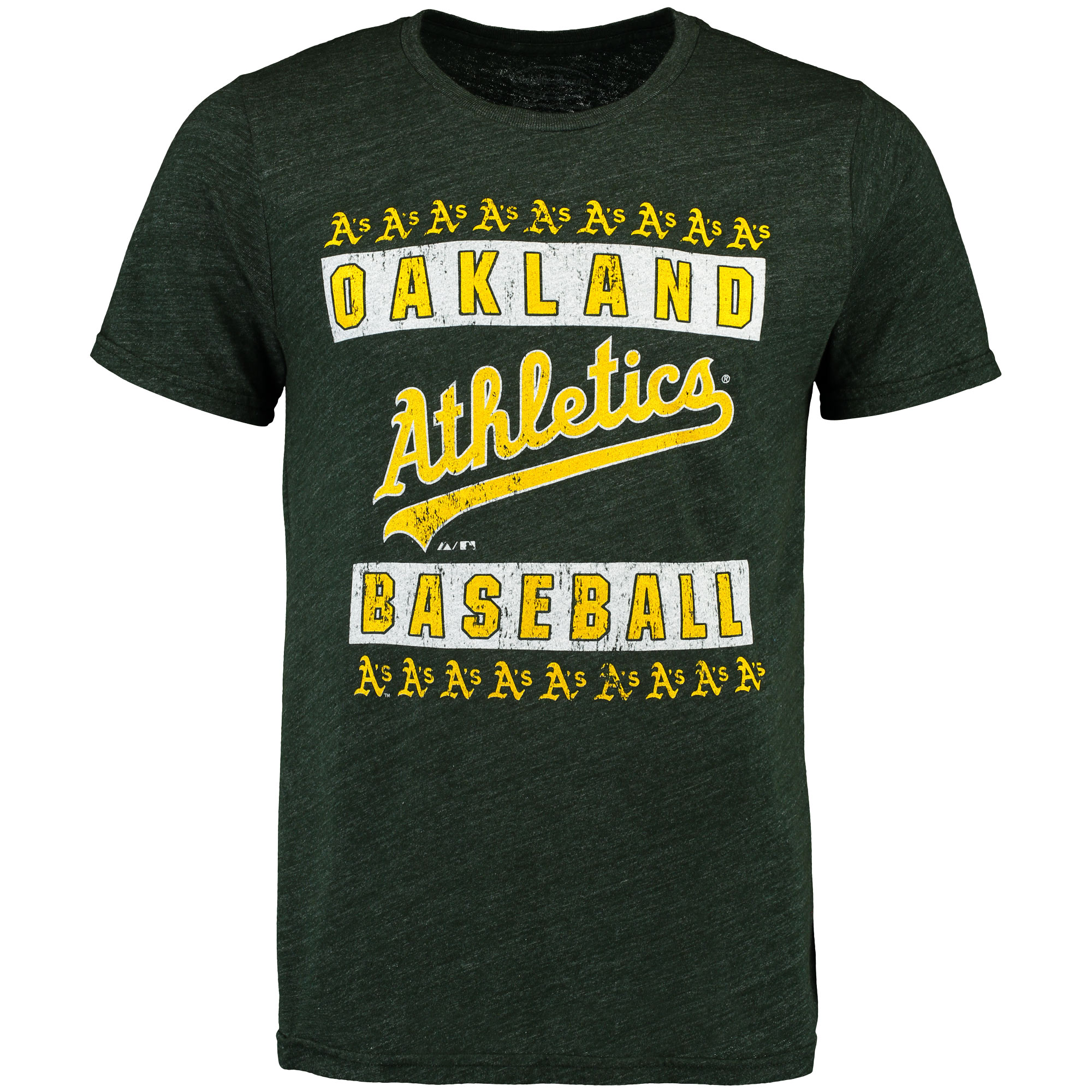 Oakland Athletics Majestic Threads Tri-Blend T-Shirt - Green