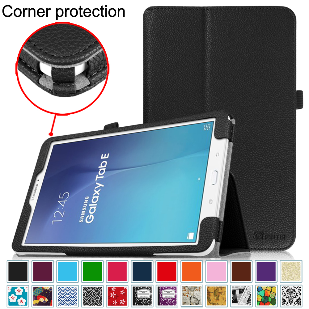 For Samsung Galaxy Tab E 9.6 / Samsung Tab E Nook 9.6 Tablet Case - Fintie Slim Fit PU Leather Stand Cover, Violet