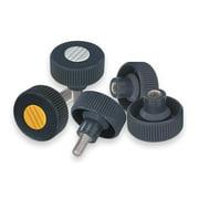 KIPP Knurled Wheel, 3/8-16, Int, SS, 1.42,1.99 K0261.22A4
