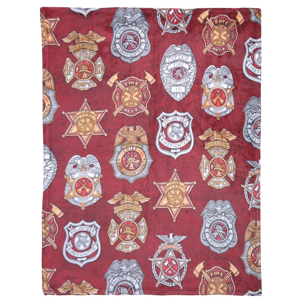 Military Service Throw Blanket - Firefighter