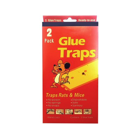 Professional 2 Pack Glue Sticky Traps Mice Mouse Rat Roaches Spider Pest Board Mouse Disposable Safe Sanitary  1Pcs