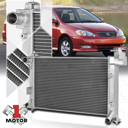 Aluminum 2 Row Core Performance Cooling Radiator for 03-08 Toyota Corolla E120 04 05 06 07