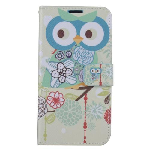 Insten Owl Leather Wallet Case with Card slot & Photo Display For Samsung Galaxy S7 Edge - Colorful